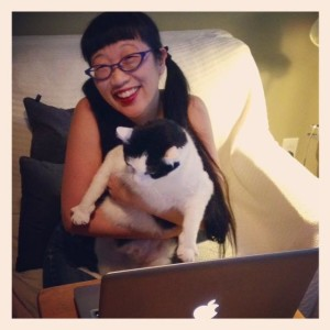 My cat Oreo also participates in NAPIBOWRIWEE! :)